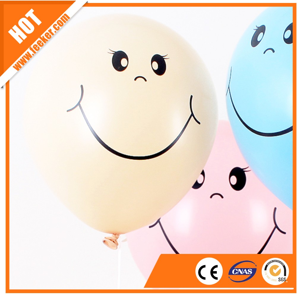 new style various sizes yellow smile face balloons rubber latex balloon for christmas decoration