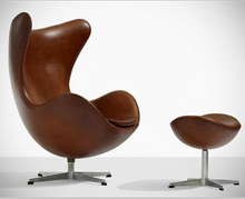 Egg chair with ottoman designed by arne jacobsen fritz hansen