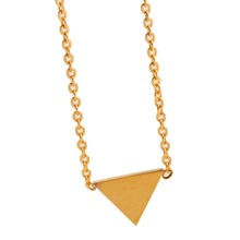 Triangle pendant necklace gold plated stainless steel for women