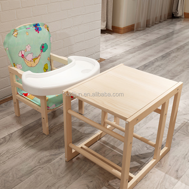 Pleasant Baby High Chair 2 In 1 Solid Wood Pine Material Multi Functional Baby Eating Lunch Chair Buy Baby Eating Lunch Chair Multi Functional Baby Eating Caraccident5 Cool Chair Designs And Ideas Caraccident5Info
