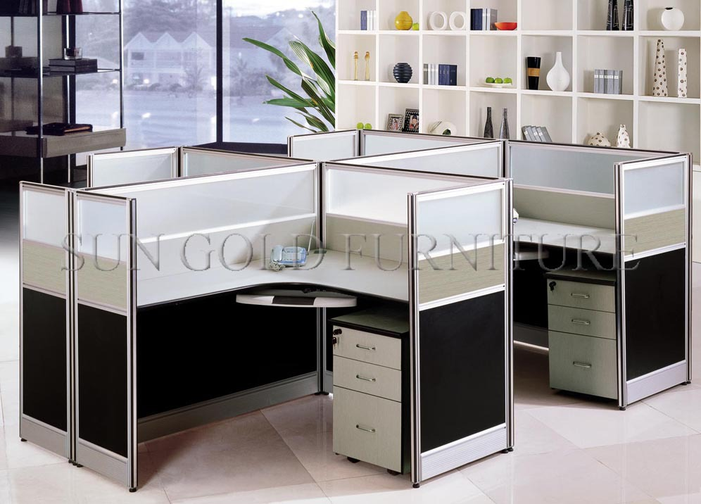 2017 new design modern cubicle wooden used glass office for Modern office partition design