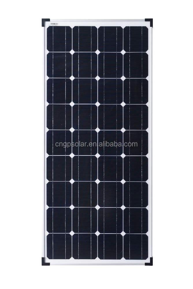 G&P High Efficency 18V A Grade 100Watt/120Watt Mono Solar Panel solar module with <strong>CE</strong>/TUV/ISO