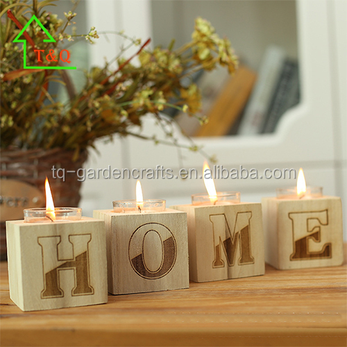 2016 Unique Creative cheap tealight wooden home candle holder