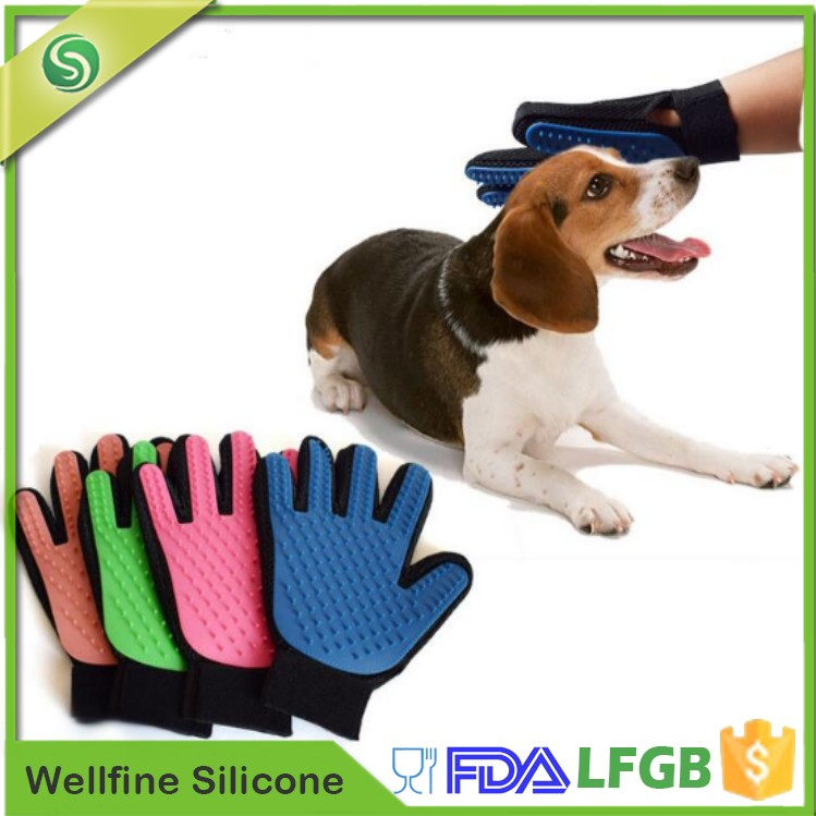 Touch True Pet Hair Removal Brush,Silicone Pet Grooming Brush