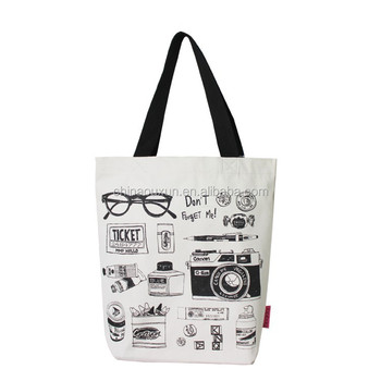 Contemporary promotional fancy canvas shopping bag