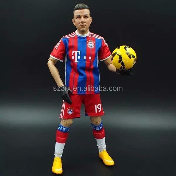 Custom Plastic Soccer Player Action Figure Oem Soccer Toy