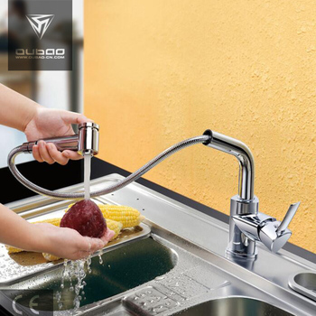 Pull-out Spray Kitchen Sink Faucet Tap with Pull Down Swivel Spout
