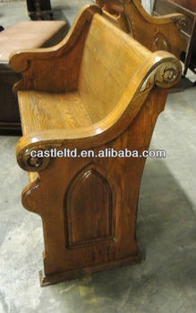 Pleasing Antique Carved Oak Solid Wooden Pew Oak Church Furniture Oak Deacons Bench Buy Wooden Church Pew Church Pews And Furniture Natural Oak Furniture Caraccident5 Cool Chair Designs And Ideas Caraccident5Info