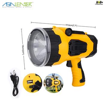 Cree T6 550lm Cob 3w 200lm 7 Light Level Led Rechargeable Handheld Spotlight Torch Lantern