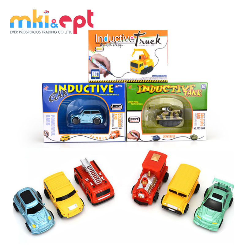 Magic Mini Pen Inductive Toy Car Truck Tank Bus Follow Any Drawn Line For Children