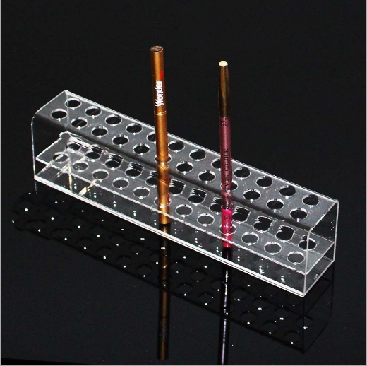 Clear plastic lipsticks display handmade lucite acrylic freestanding eyeblow pencil holder