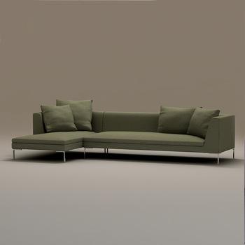 Hoekbank Van Stof.Nieuwe Model Groene Stof Hoekbank Moderne Stof Sofa Set Laatste