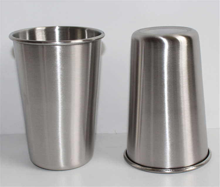 Promotional Simple Style Durable Stainless Steel 18/8 SS304 Drinking Water Coffee Cup