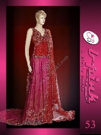 Pakistani Bridal Dresses Red Pink Net Katan Silk Lengha Buy
