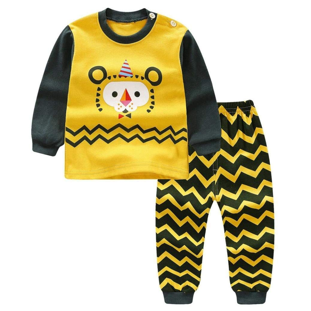 Little Boy Autumn Pajamas Sets,Jchen(TM) New Style! Newborn Infant Baby Little Boys Girls Cartoon Lion Print Tops+Pants Outfits for 0-3 Y (Age: 2-3 Years Old)