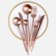 Eco-friendly copper plated rose gold cutlery 24pcs flatware set