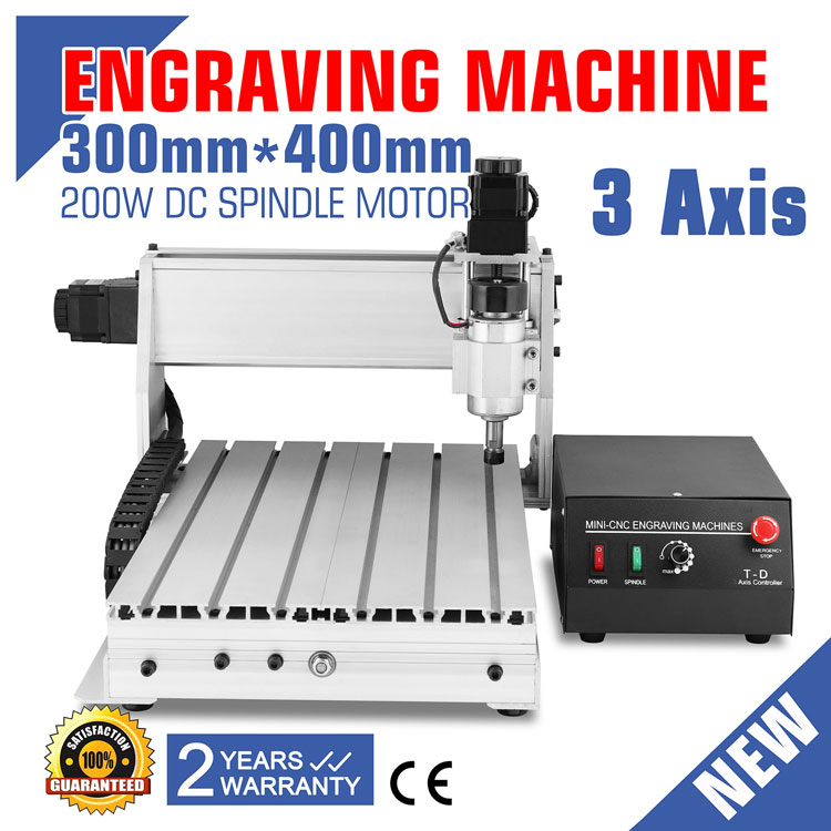CNC Router Machine 3 Axis 3040T Engraving Machine with USB Function CNC Router 300mm x 400mm Router Engraver Milling Machine