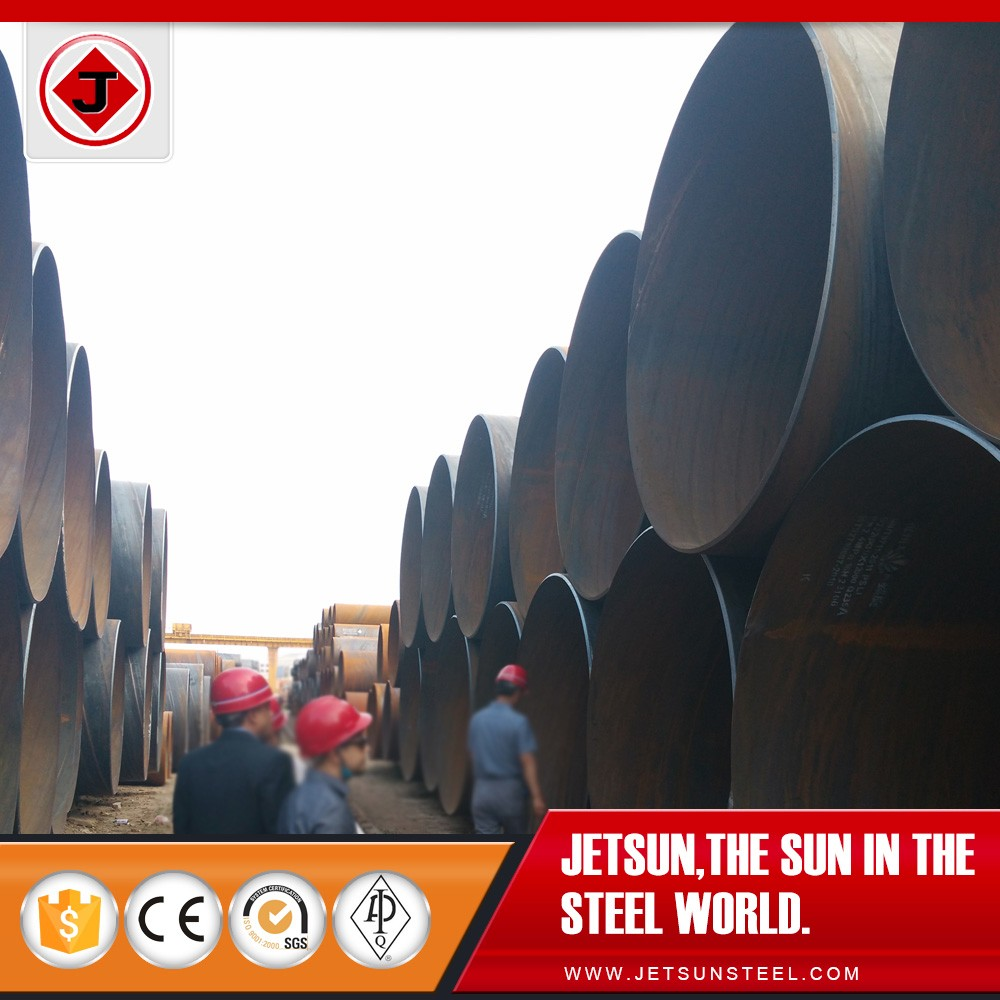 5.9 Ton per Piece 2500mm*14mm*6000mm API 5L Grade B SSAW Line Pipe for Water Conservancy