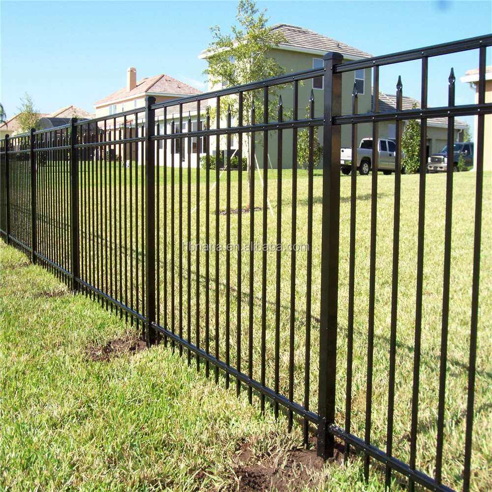 Professional Curved Metal Fencing / Modular Fencing System / Fence Post  Sleeve - Buy Metal Fencing,Metal Post Bracket Fence,Cheap Metal Fencing