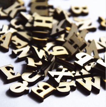 fashion english letters wedding wood crafts wooden letters