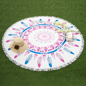 Extra Large Thick Stock Microfiber Fabric Round Beach Towel Good