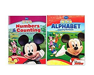 Mickey Mouse Clubhouse Workbook and Flashcard Learning Bundle (Set of 2) includes (1) Alphabet Learning Workbook + (1) Numbers and Counting Learning Workbook by Disney