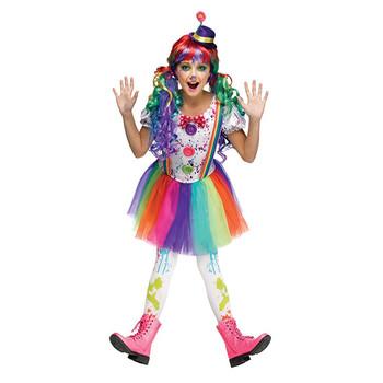 Professionele Halloween Kostuums.Halloween Carnaval Meisjes Professionele Fancy Clown Kostuum