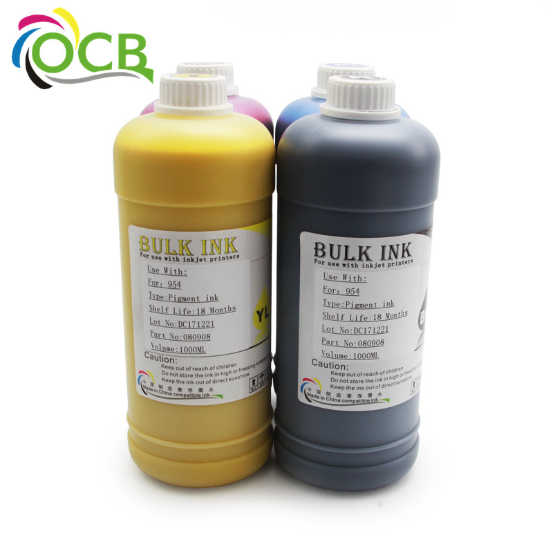 For HP 954 954XL Desktop Universal Refill Original Pigment Ink For HP OfficeJet Pro 7740 8210 8710 8720 8730 Printer