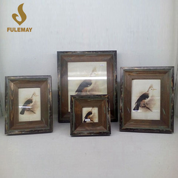 Antiquity Style Old Black Wood Photo Frames Collage Desktop Standing ...