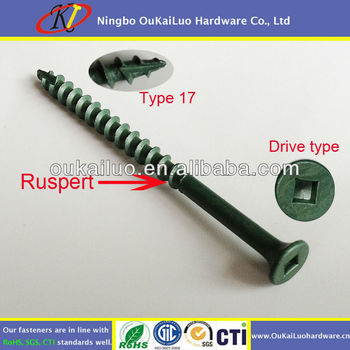 Ruspert Coating Square Drive Deck Screws For Composite Wood - Buy Deck  Screws For Composite Wood,Ruspert Screws,Square Head Wood Screws Product on