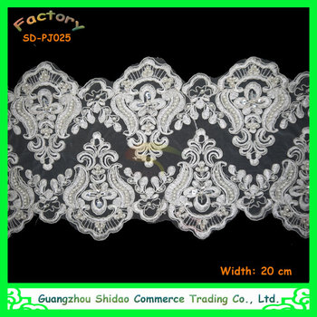 White Color Saree Border Lace Embroidery Design Double Edged ...