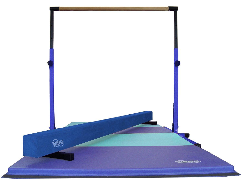 ae854aaa5b73 Get Quotations · Little Gym - Blue Adjustable Horizontal Bar - Blue Low  Balance Beam - Blue/Light