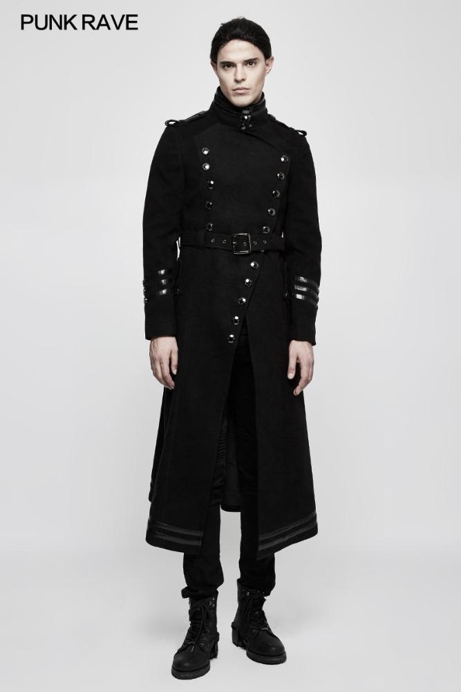 Manteau long homme militaire