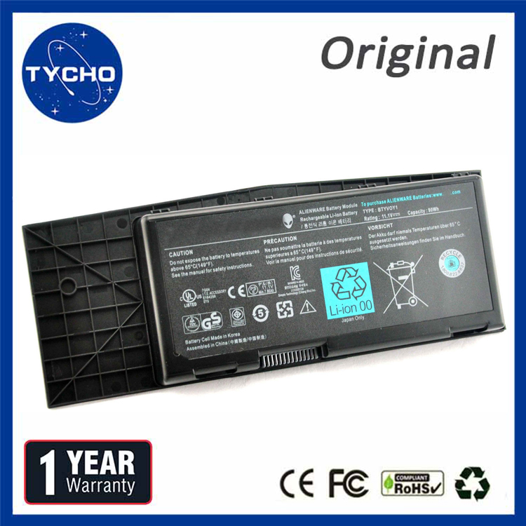 ORIGINAL Battery For Dell Alienware M17x R3 R4 90Wh Battery BTYV0Y1 7XC9N C0C5M 318-03977 BTYVOY1 Laptop Battery