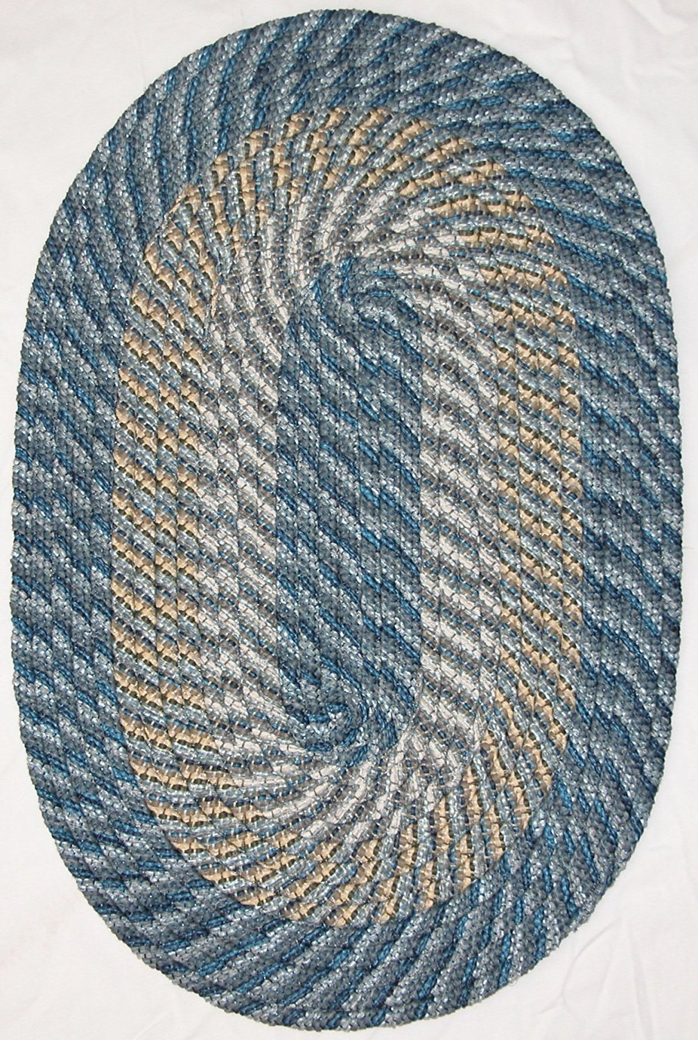 "Plymouth Braided Rug in Colonial Royal Blue (22"" x 108"" (1'10"" x 9') Runner)"