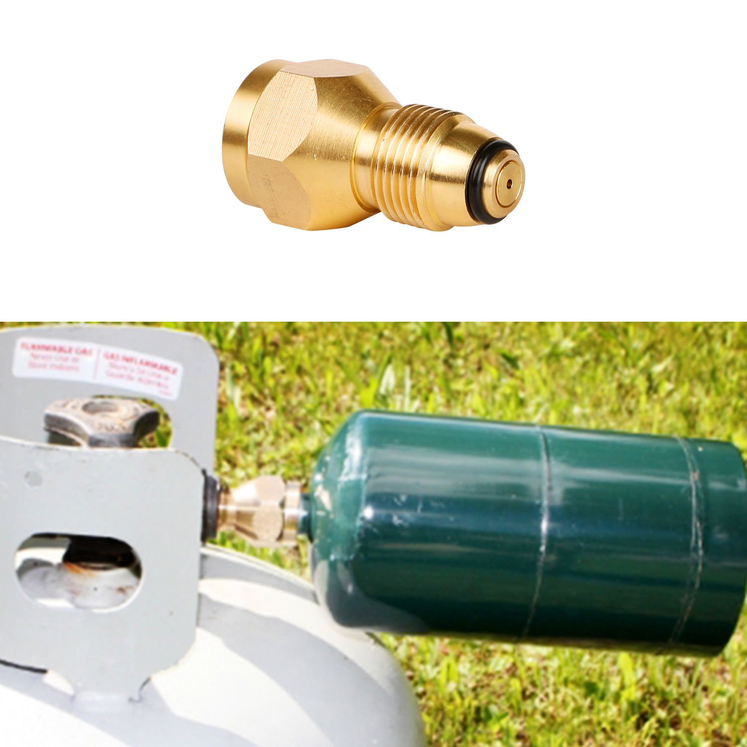 Propane Refill Adapter Lp Gas 1 Lb Cylinder Tank Coupler Heater Bottles Coleman Easy Propane Bottle Refill Alternative Materials Brass Brand New