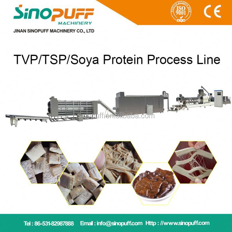 Soya Protein Processing Line/Soya Meat Food Maker Machine