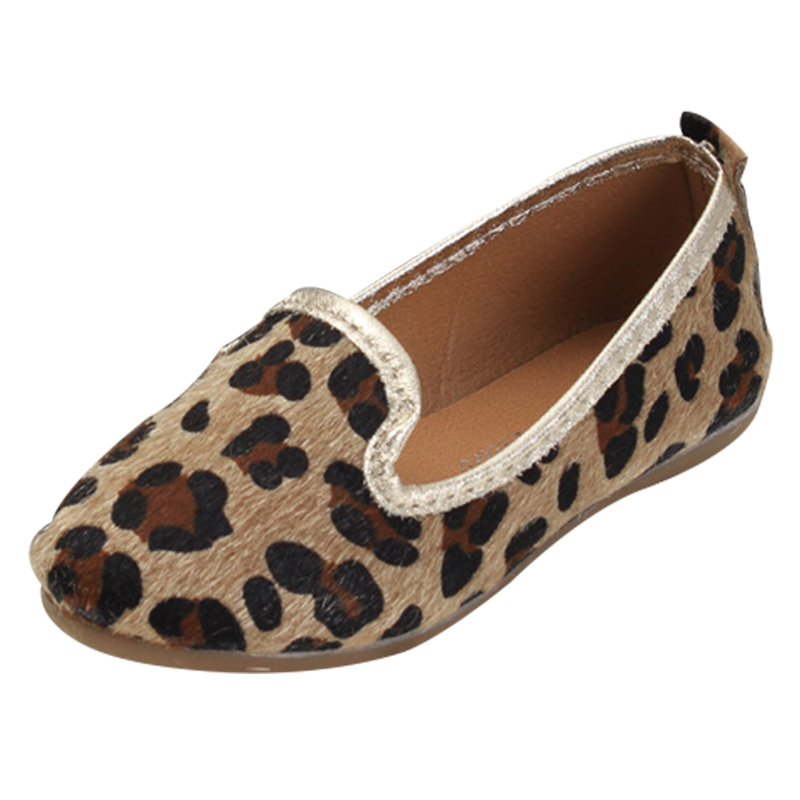 2015 spring leopard print child single shoes female child brief fashion leather princess shoes all match