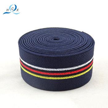 Design And Color Stripe Elastic Band,Polyester Elastic Tape For  Garments,Elastic Ribbon - Buy Design And Color Stripe Elastic  Band,Polyester Elastic