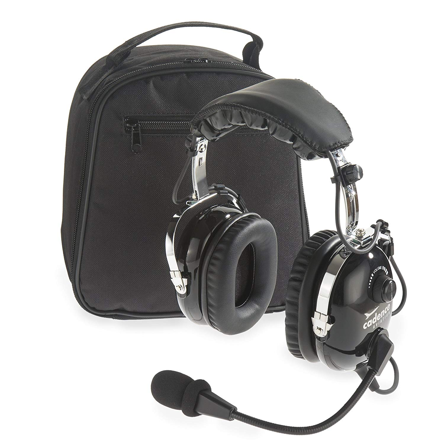 8397844111a Get Quotations · Cadence CA500 Premium PNR Pilot Aviation Headset with Aux  Input and Carrying Case - Black