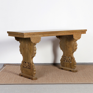 antique reproduction luxury carved wood chinese console table