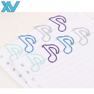 Colorful music note shapes PET coated metal wire paper clips