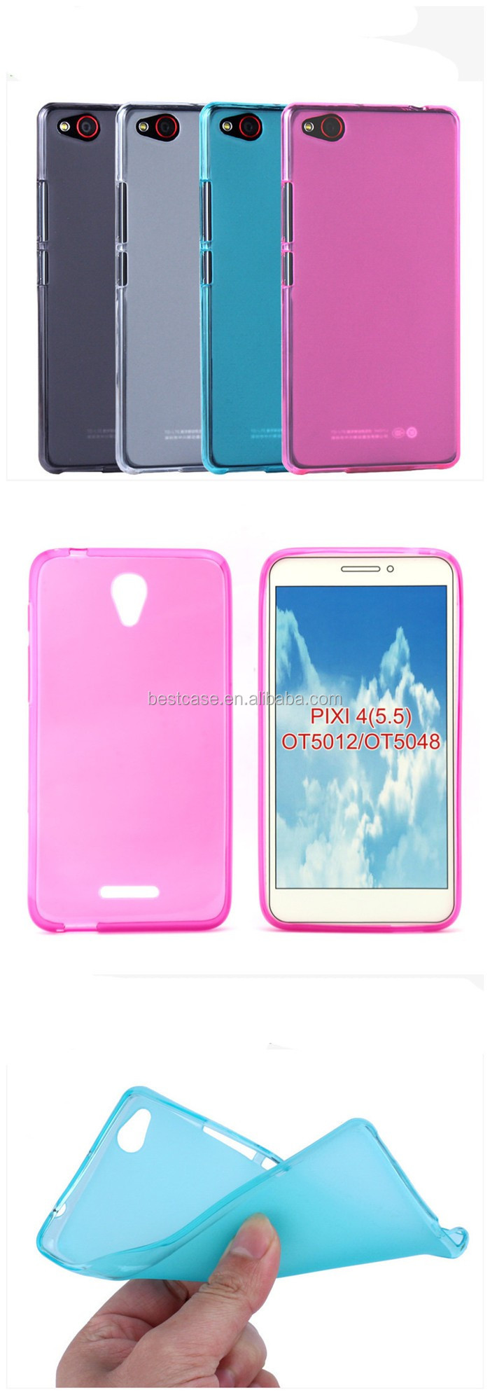 Frosted Pudding Gel TPU Cover For ZTE Blade A452 Phone Case