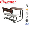 Combined double school desk and school chair/school furniture for students