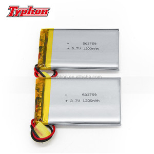 CE approved 403759 3.7V 850mAh li-polymer battery 3.145wh 043759 lithium ion battery