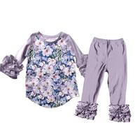 baby girl wholesale boutique outfits children cute floral printed fall winter clothing sets
