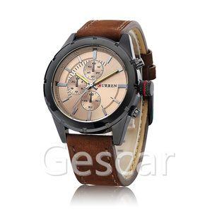 9c4038b9d0b CURREN 8154 Original Brand Casual Leather Sport Man Luxury Curren Watch