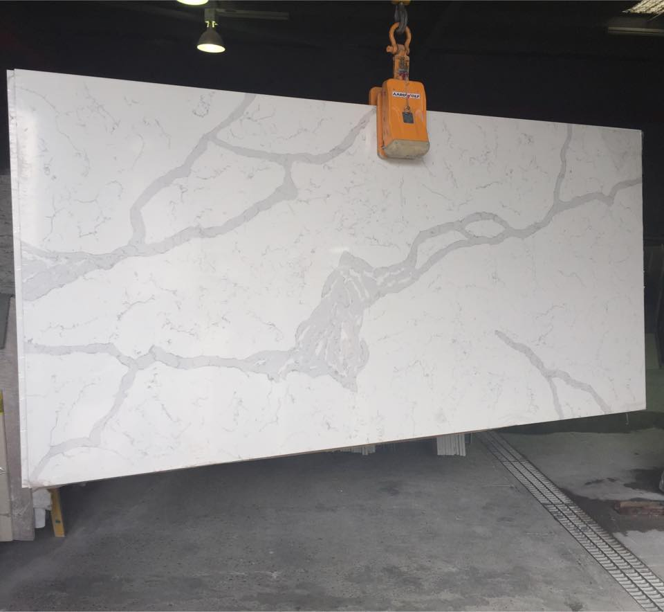 Nsf Certificate White Veins Grey Quartz Stone For Product On