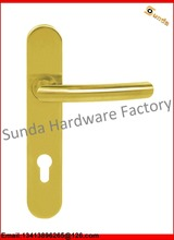 Stainless Steel Double Sided Door Pull Handle With Long Plate or Escutcheon