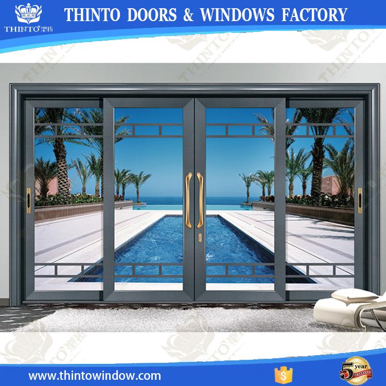 grandes puertas correderas de cristal exterior de cristal grande de aluminio puertas exteriores